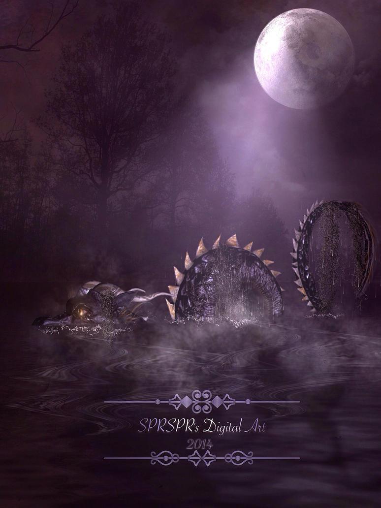 Something strange in the lake by SPRSPRsDigitalArt