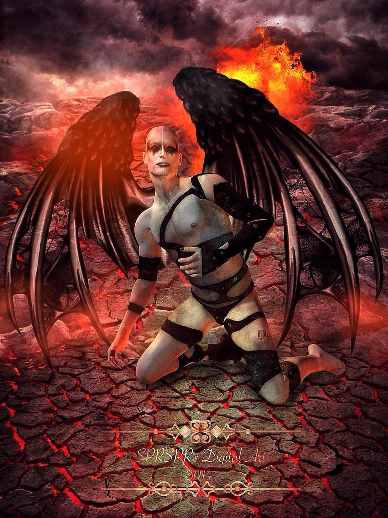 Demon in hell by SPRSPRsDigitalArt