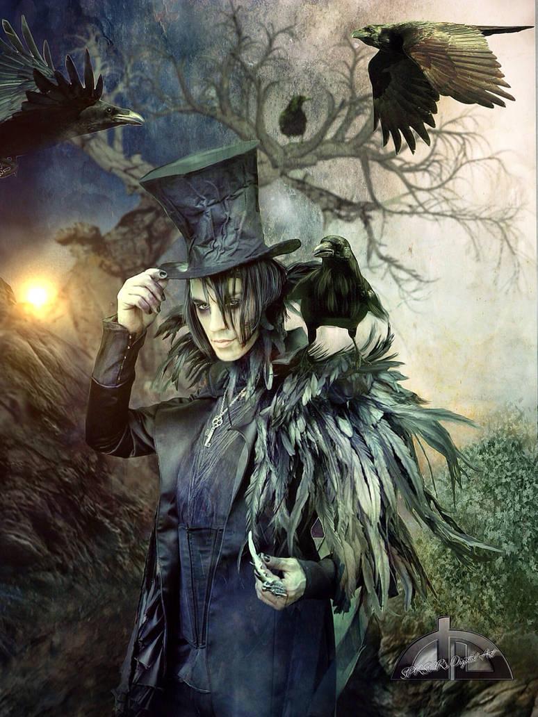 Raven, Crow, et Corbacs  The_raven_man_by_sprsprsdigitalart_d85oi36-pre.jpg?token=eyJ0eXAiOiJKV1QiLCJhbGciOiJIUzI1NiJ9.eyJzdWIiOiJ1cm46YXBwOjdlMGQxODg5ODIyNjQzNzNhNWYwZDQxNWVhMGQyNmUwIiwiaXNzIjoidXJuOmFwcDo3ZTBkMTg4OTgyMjY0MzczYTVmMGQ0MTVlYTBkMjZlMCIsIm9iaiI6W1t7ImhlaWdodCI6Ijw9MzA3MiIsInBhdGgiOiJcL2ZcL2E5YjAyMDg2LTBlNGMtNGNhNi1hMjViLTEwNWE4YmQzZTVmZVwvZDg1b2kzNi04NmM0ZTAyZC1jZGU2LTRlZjMtOWI2OS1lMzMzYmVjNmI0OGYuanBnIiwid2lkdGgiOiI8PTIzMDQifV1dLCJhdWQiOlsidXJuOnNlcnZpY2U6aW1hZ2Uub3BlcmF0aW9ucyJdfQ