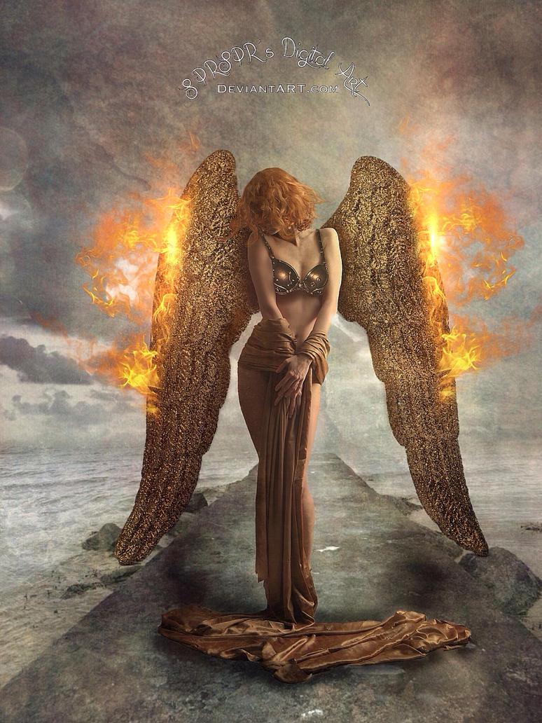 Wings on fire by SPRSPRsDigitalArt