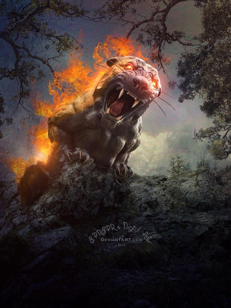 The Beast is Loose by SPRSPRsDigitalArt