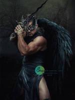 Dark Warrior by SPRSPRsDigitalArt
