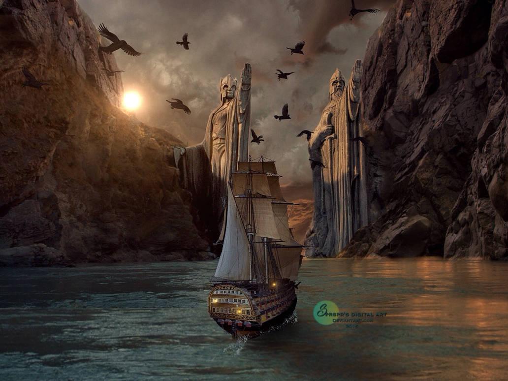 Entering Gondor Land by SPRSPRsDigitalArt