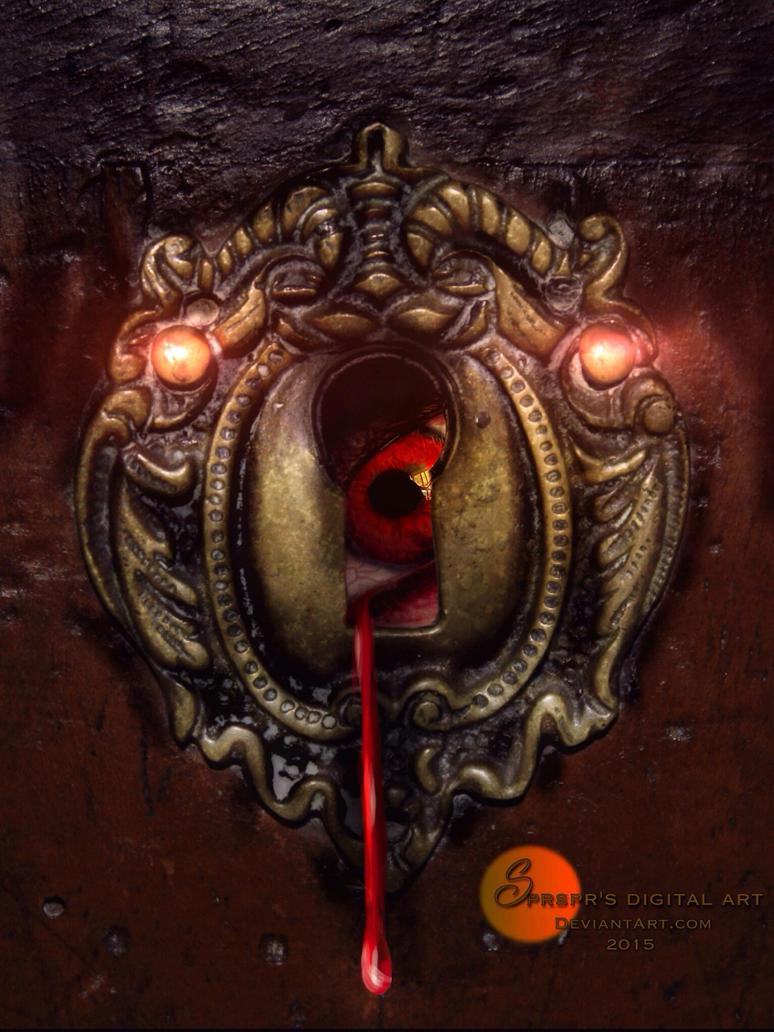 Peeking through the keyhole by SPRSPRsDigitalArt