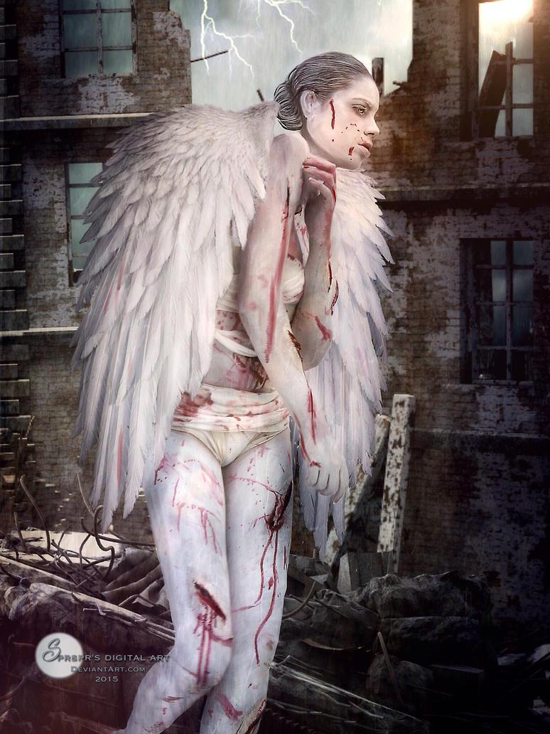 Fallen angel by SPRSPRsDigitalArt