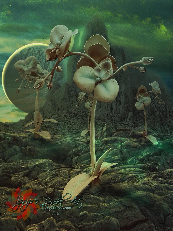 Alien planet by SPRSPRsDigitalArt