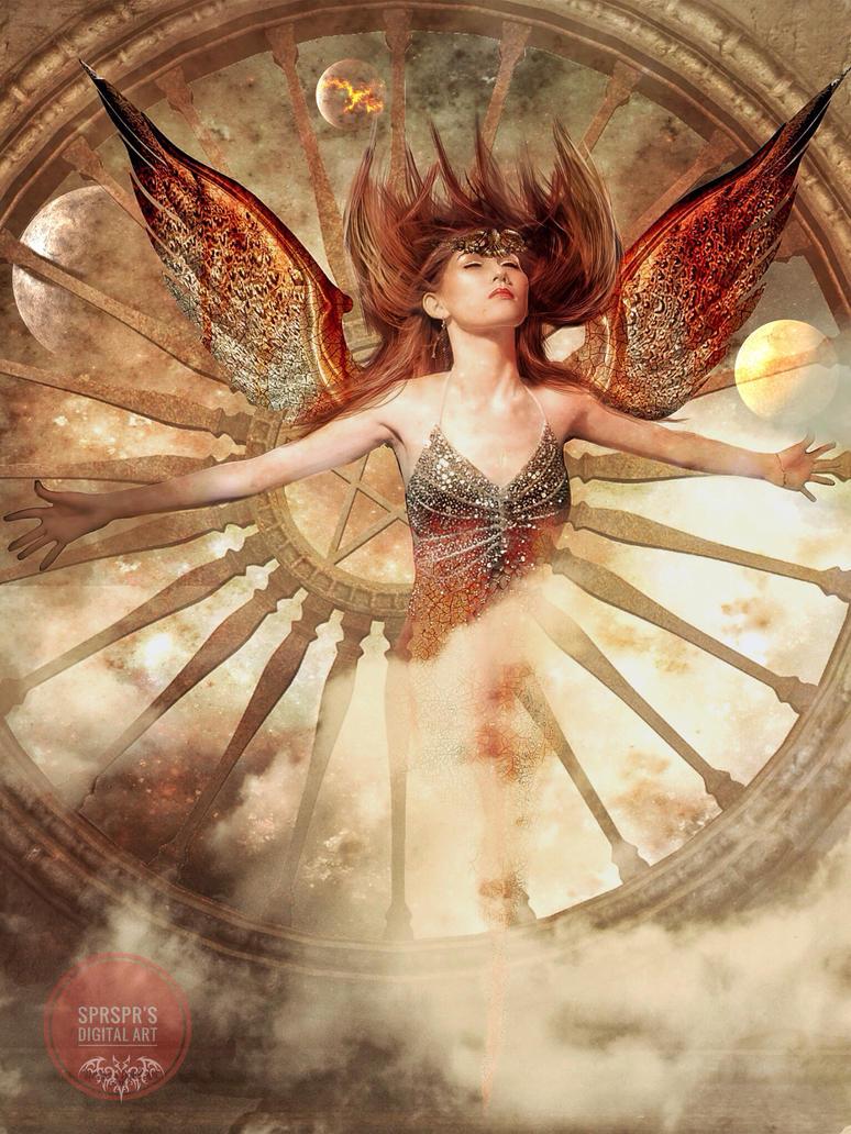 Goddess of the universe by SPRSPRsDigitalArt