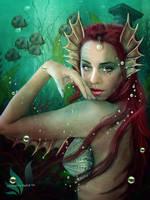 Sweet mermaid II by SPRSPRsDigitalArt