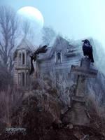 Haunted house by SPRSPRsDigitalArt