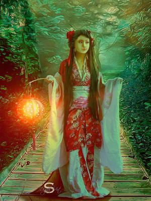Japanese garden by SYLVIAsArt
