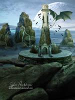 Dragon tower by SPRSPRsDigitalArt
