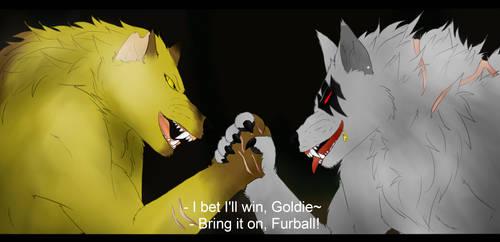 Dog Fight by Aria-Suna-Kunoichi