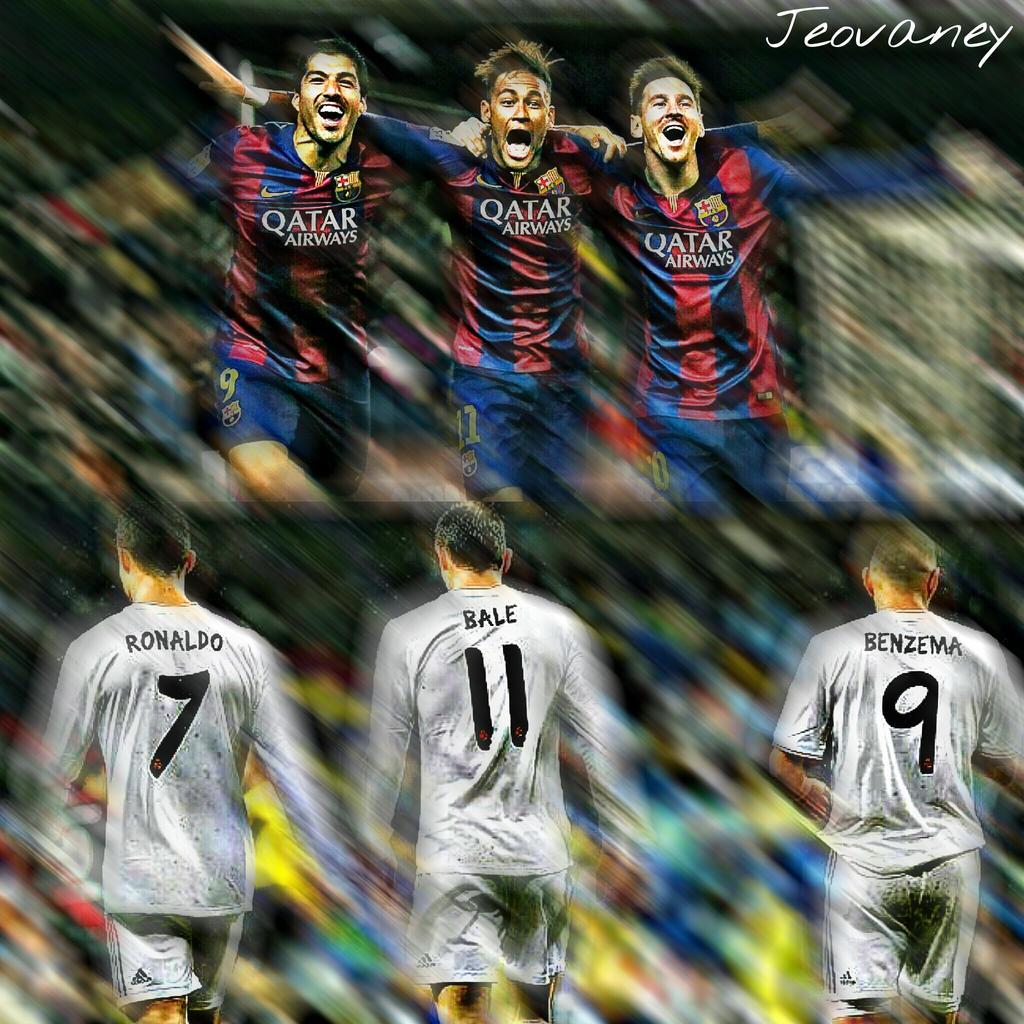 Suarez Neymar Messi X Ronaldo Bale Benzema By TheAwesomeJeo