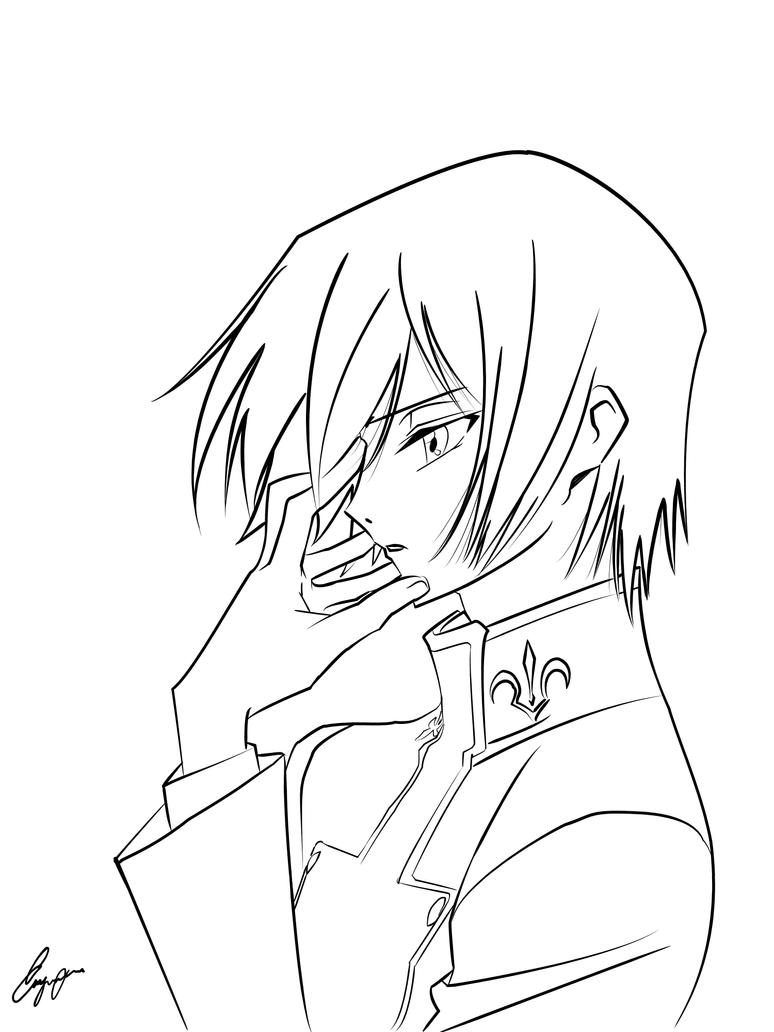 Line Art With Pen Tool : Lelouch pen tool practice by enigma xiii on deviantart