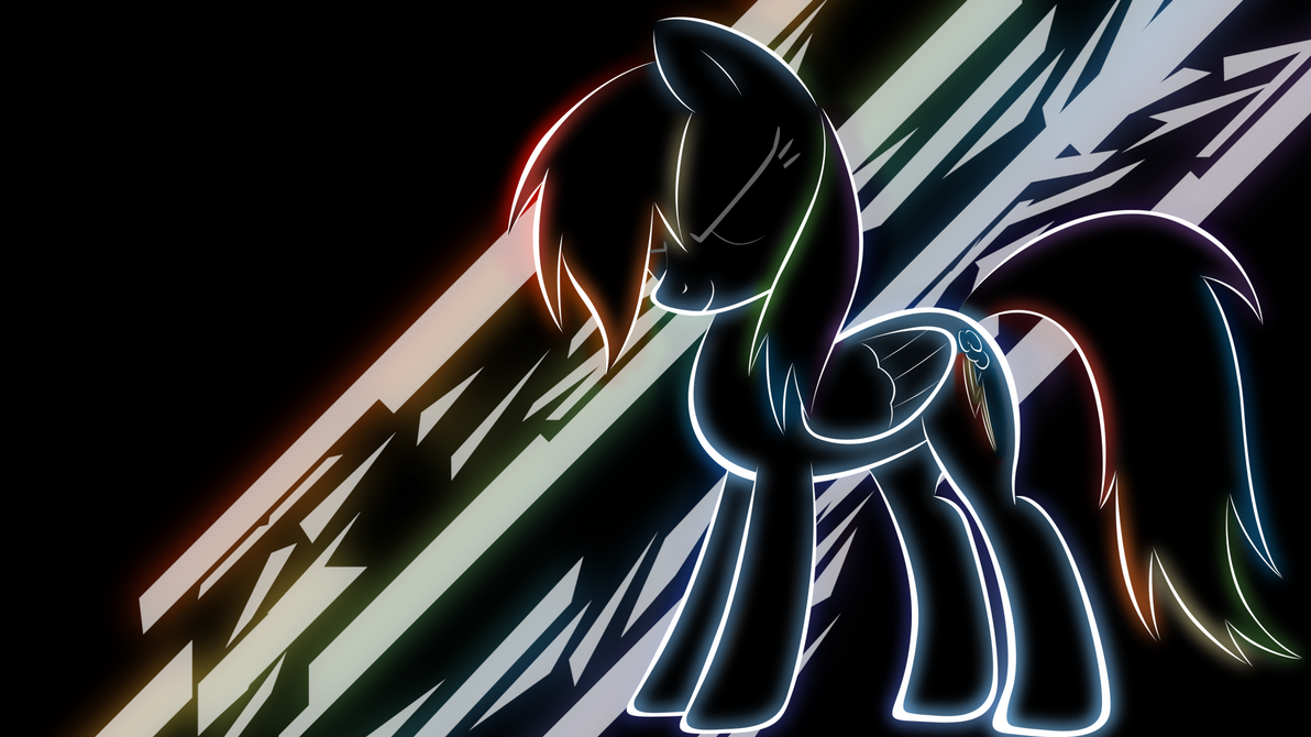 Rainbow Dash Neon Wallpaper By LikeMike213