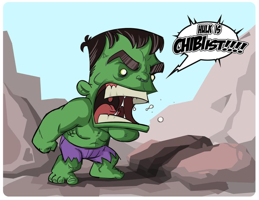 Chibi Hulk Cute Chibi Hulk by Moltenink