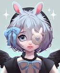 ($) Angelic bunny
