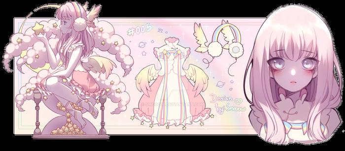 (CLOSED) adoptable - Rainbow angel