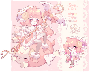 ADOPTABLE OPEN! - love sheep by Smeoow