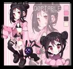 Pink samurai girl - Adoptable closed