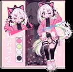 Cyberpop catgirl - Adoptable closed