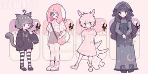 (ASOPTABLES CLOSED!) Casual animal adopts /pack 2