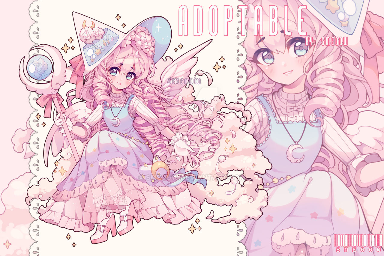 (CLOSED) Pastel Witch Adoptable
