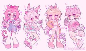 (CLOSED) Kawaii Pink Adoptables Pack