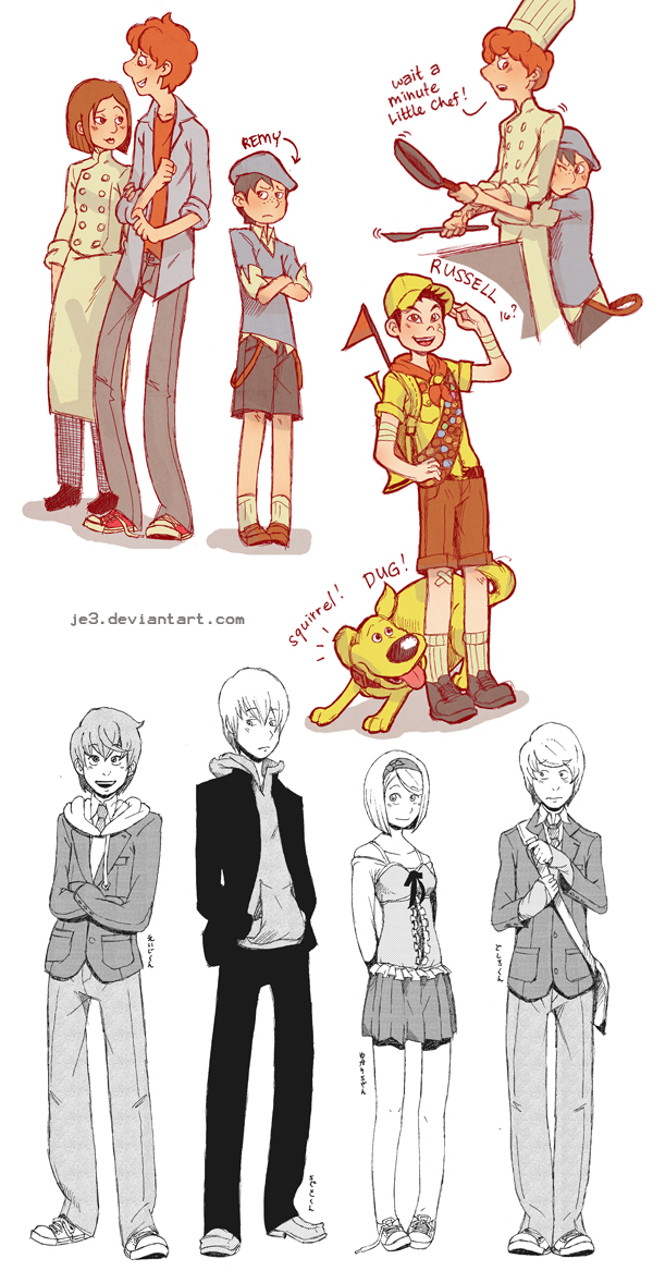 March 3 Anime Characters : Pixar ratatouille doodles etc by je on deviantart