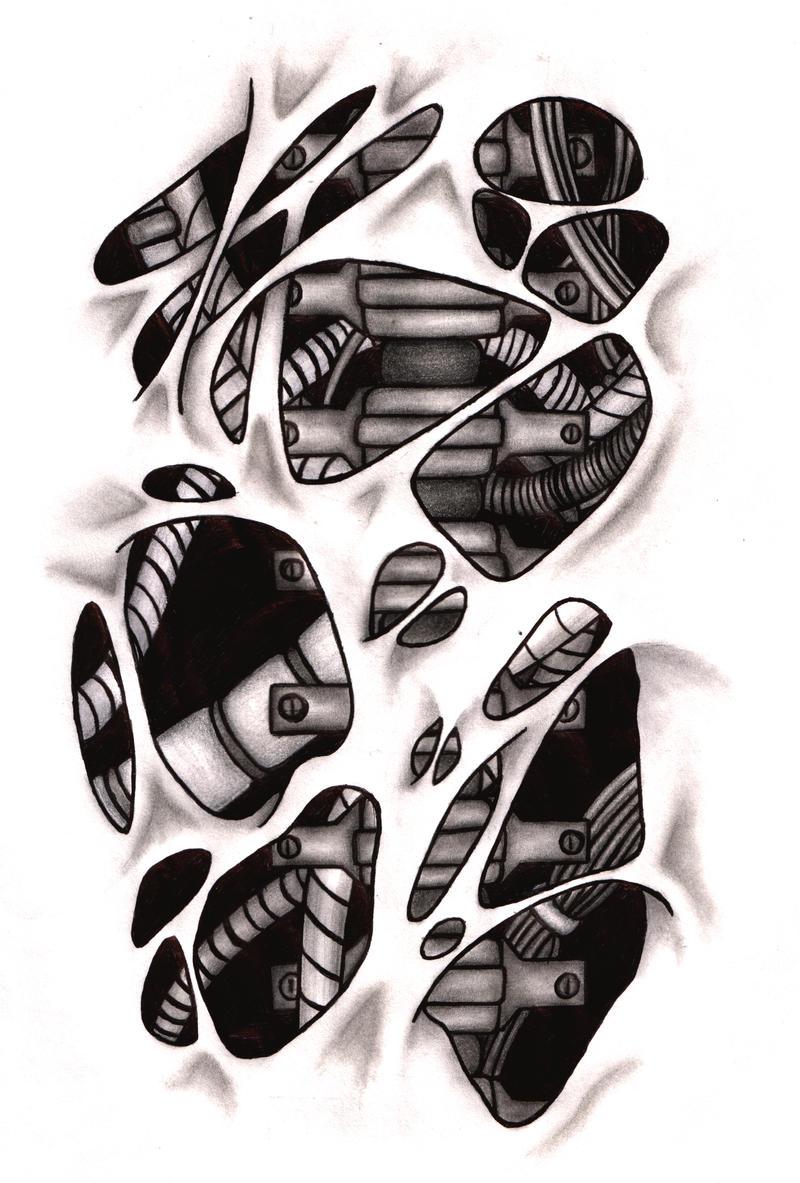 tattoo bio mech by pyong on deviantart. Black Bedroom Furniture Sets. Home Design Ideas