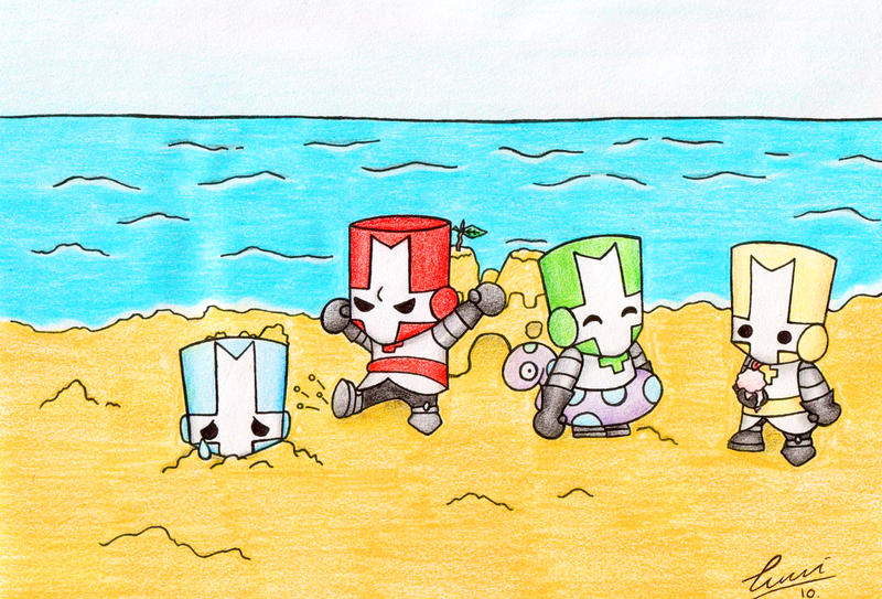 castle crashers beachtime by pyong on deviantart