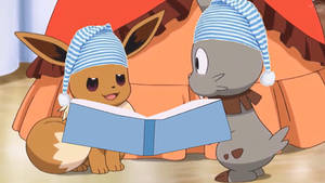 Bunnelby and Eevee Reads a Bedtime Story