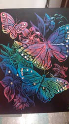 Engraved Butterflies by artistmarymiller941