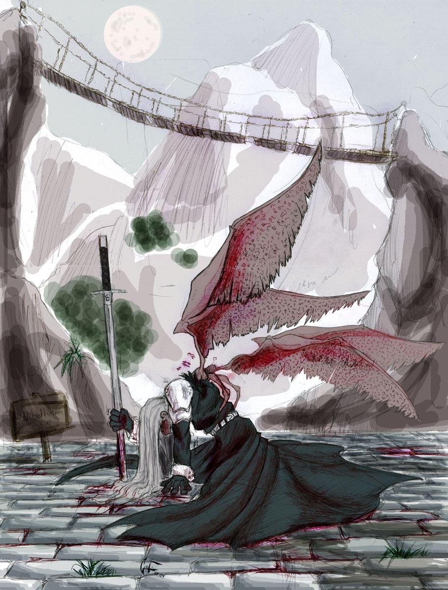 Born of Fallen Angel,Sephiroth by Nhur