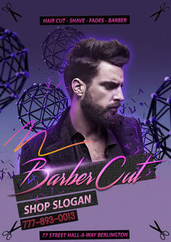 Flyer Barber Cut Shop psd file