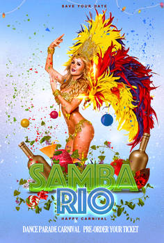 Samba Rio graphic flyer