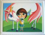 Caroline and her unicorn