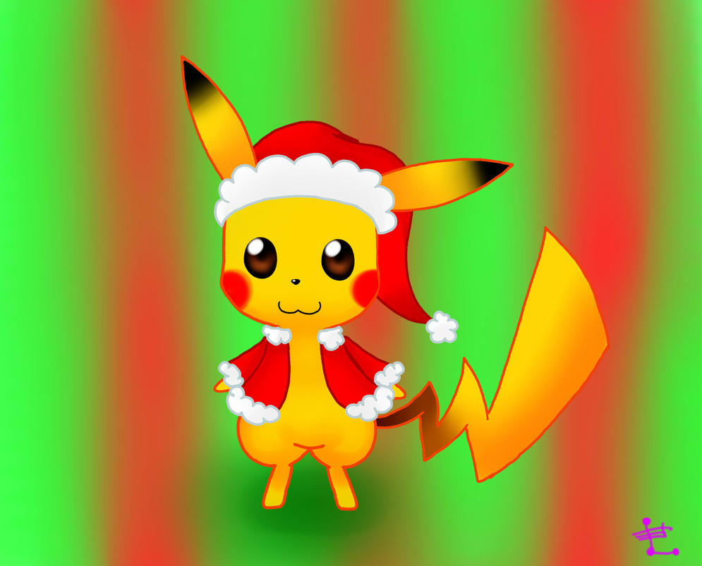 Christmas Pikachu Drawing Christmas Pikachu Drawing