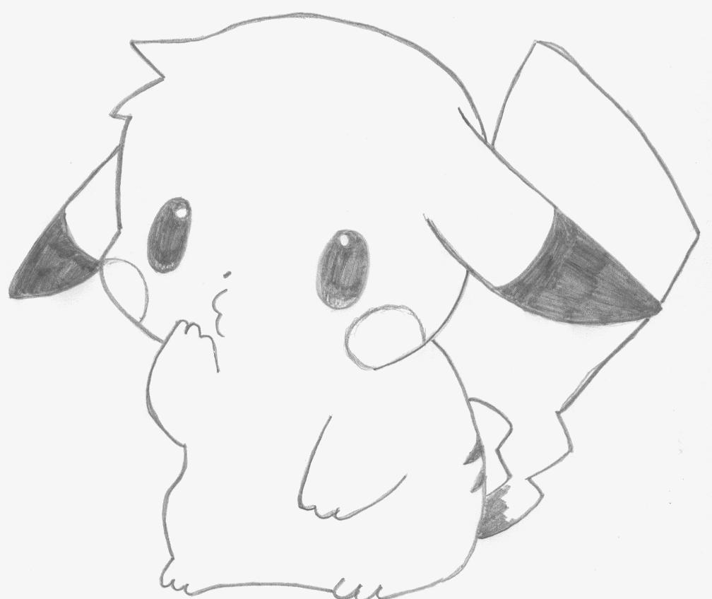 Dessin pikachu by jashin sama33 on deviantart - Pikachu dessin ...
