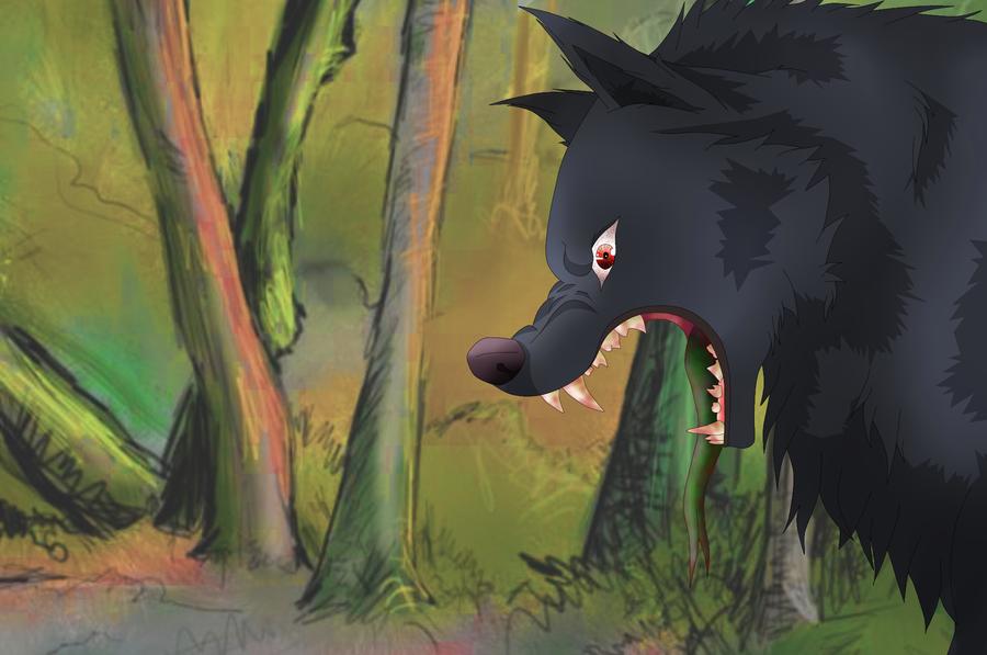 Dark anime wolf miraku by aryachan love wolves on deviantart - Anime wolves in love ...