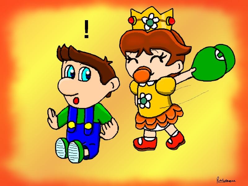 Baby Daisy And Baby Luigi By Ruseau On Deviantart