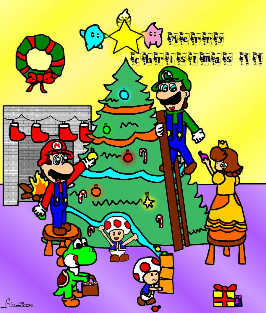 Mario : Merry christmas ! by ruseau