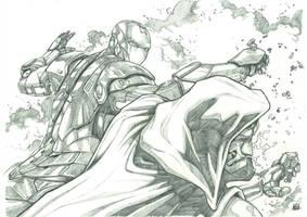 Iron vs Dr Doom Pencil