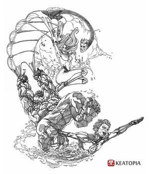 Fantastic 4 Threadless Challenge (LineArt)