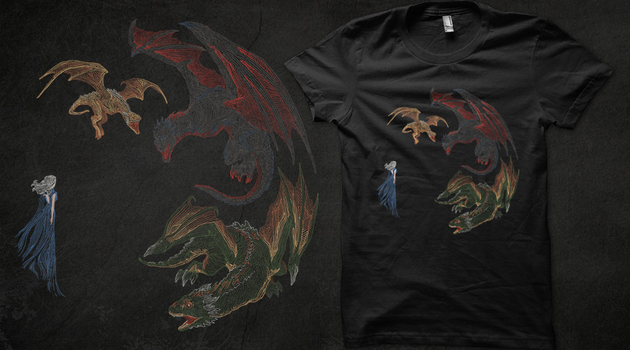 Mother of Dragons Qwertee submission by Keatopia