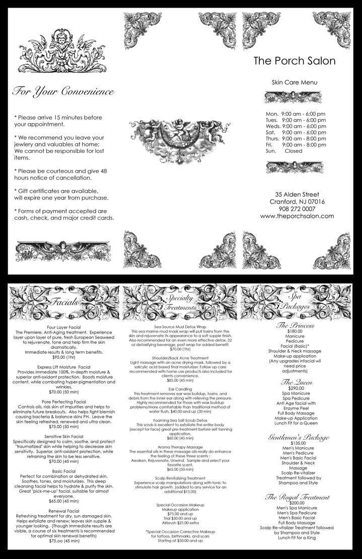The Porch Salon Brochure by Justierox2 on DeviantArt – Salon Brochure