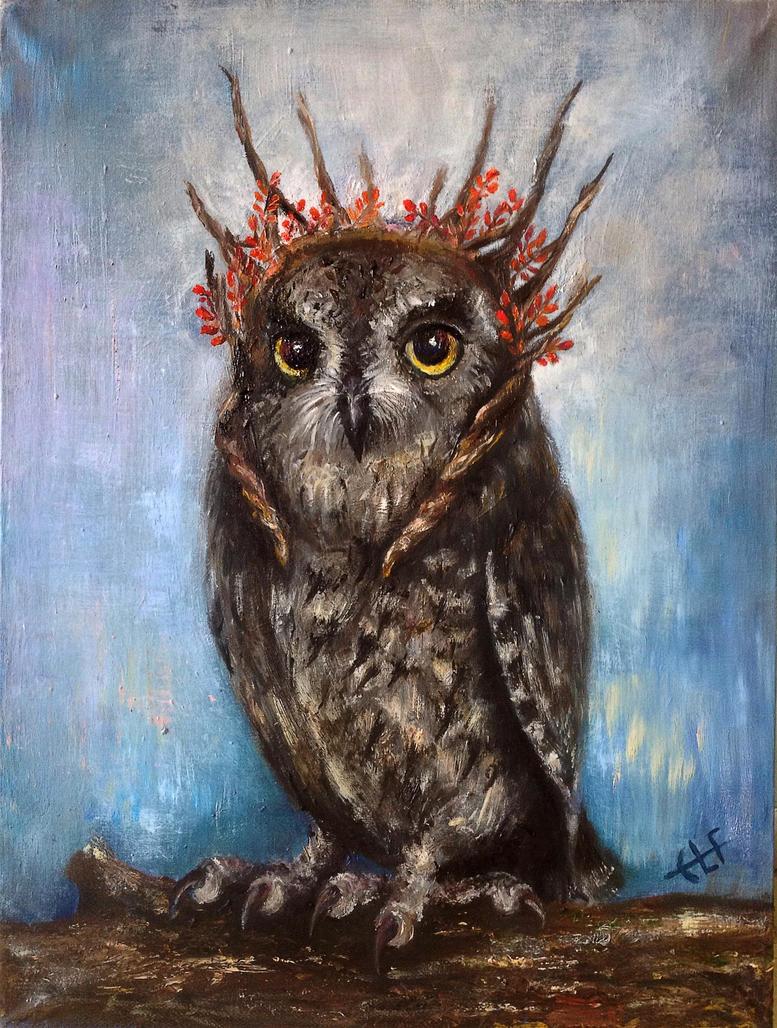 Owl Thranduil by Ainaven