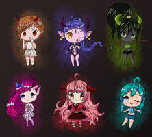 Devil Chibies Adopts (Paypal only) | Open by Pulsatrixx