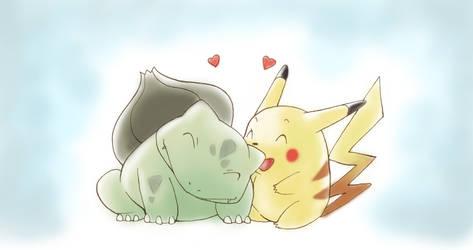 Pikachu and Bulbasaur by PokeSpeAnime
