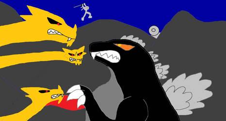 Godzilla Vs King Ghidora 1984 by jesserebornford